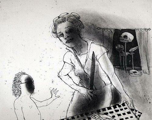 La Petite Mort 8, 2005, etching/aquatint, 20 x 25 cm, edition 30