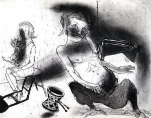 La Petite Mort 9, 2005, etching, 20 x 25 cm, edition 30