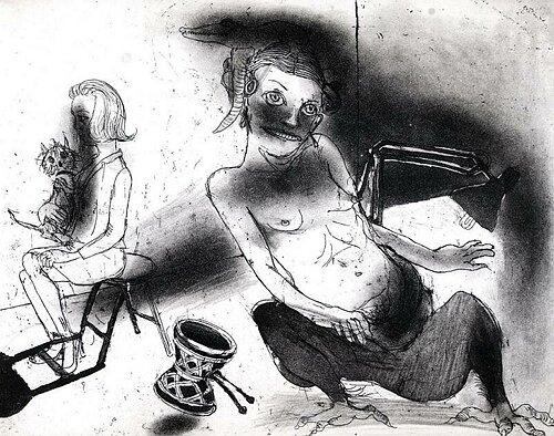 La Petite Mort 9, 2005, etching/aquatint, 20 x 25 cm, edition 30