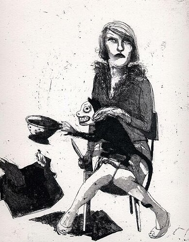 Liar, liar, house on fire, 2004, etching/aquatint, 26 x 21 cm, edition 30