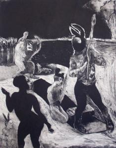 Loss of innocence 3, 2012, etching/aquatint, 50 x 40 cm, edition 30