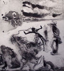 Loss of innocence 4, 2011, 50 x 40 cm, etching/aquatint, edition 30