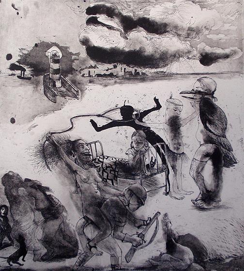 Loss of innocence 4, 2011, etching/aquatint, 50 x 40 cm, edition 30