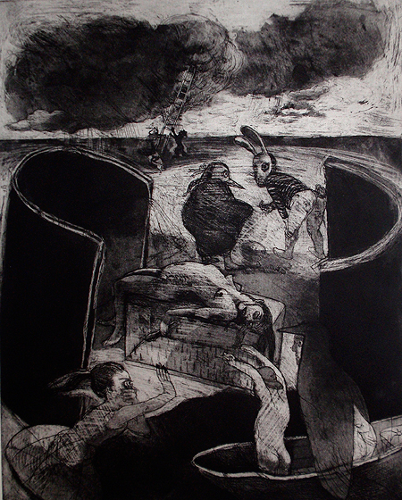 The drowning pool, 2011, etching/aquatint, 50 x 40 cm, edition 30