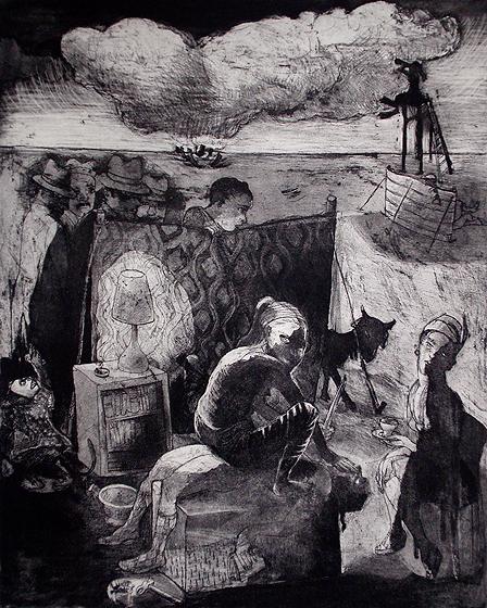 Loss of innocence, sacrifice, 2011, etching/aquatint, 50 x 40 cm, edition 30