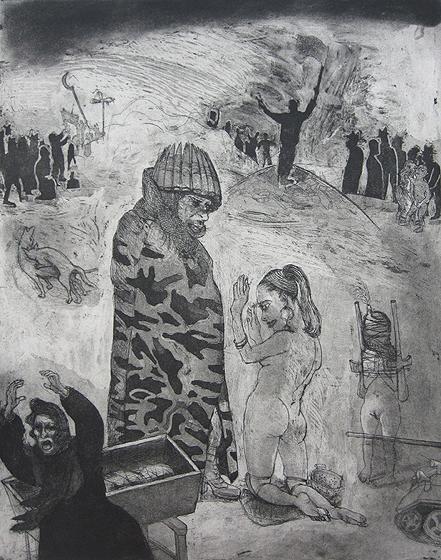Loss of innocence, war, 2011, etching/aquatint, 50 x 40 cm, edition 30