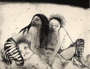 Lot and his daughters 1, 2007 , etching/aquatint, 20 x 25 cm, edition 30