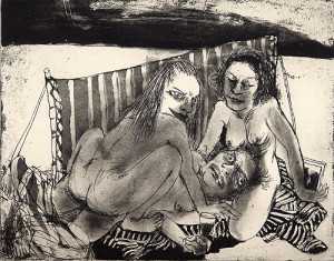 Lot and his daughters 2, 2007, etching/aquatint, 20 x 25 cm, edition 30