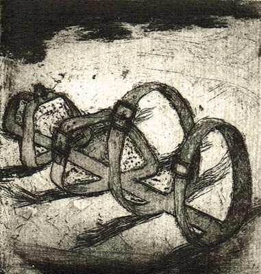 Love is a dog from hell 4, 2014, etching / aquatint, 8 x 7,5 cm, edition 15
