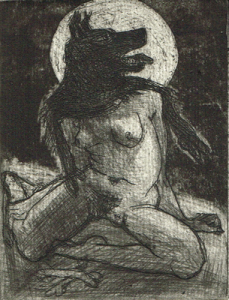 Love is a dog from hell 7, 2014, etching/aquatint, 10 x 7,5 cm, edition 15