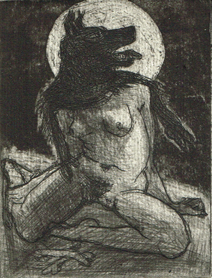 Love is a dog from hell 7, 2014, etching / aquatint, 10 x 7,5 cm, edition 15