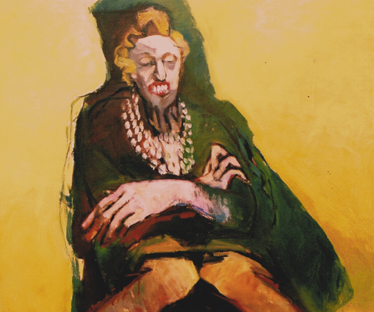 Mamma brittle 1, 1992, oil on canvas, 85 x 100 cm