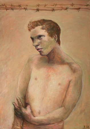 Man in pink, 2010, oil on canvas, 87 x 61 cm