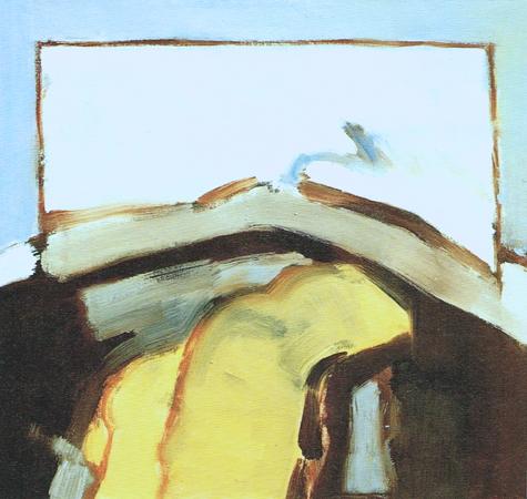 Membrane blues, 1987, oil on canvas, 62 x 65 cm