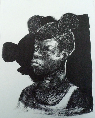 Mickey Mouse Boy, 2012, stone litho, 35 x 28 cm, edition 8