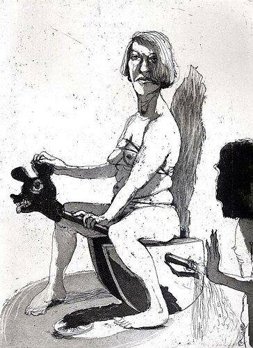 Rock-a-bye baby, 2004, etching/aquatint, 25 x 18.5 cm, edition 30