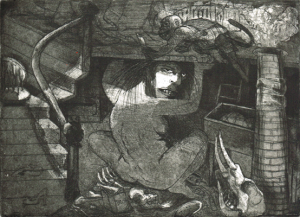 Secret of the Last Tuesday Society, 2014, etching/aquatint, 20 x 25 cm, edition 30
