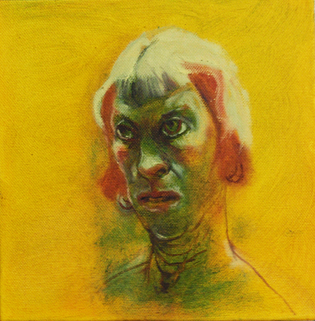 Self 2, 2011, oil on canvas, 20 x 20 cm