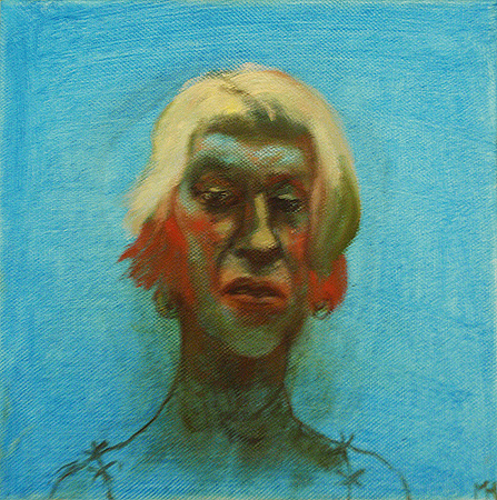 Self 3, 2011, oil on canvas, 20 x 20 cm