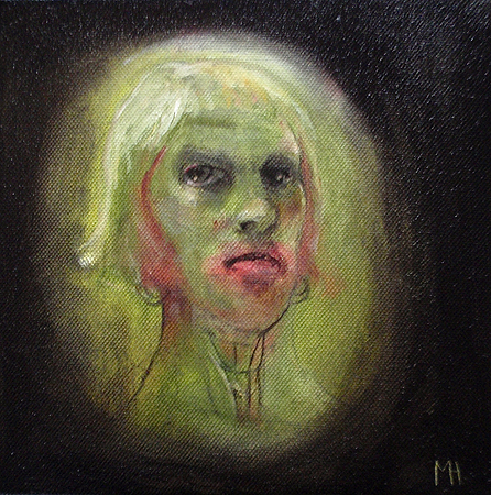Self 4, 2011, oil on canvas, 20 x 20 cm