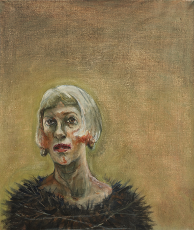 Self portrait 2, 2012, oil on canvas, 67 x 56 cm