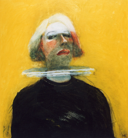 Selfportrait as a Dutchwoman, 2002, oil on canvas, 65 x 55 cm