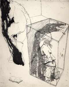 Shadows and sounds, 2001, etching/aquatint, 25 x 20 cm, edition 25