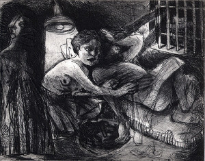 Sleep well my pretty 3, 2008, etching, 20 x 25 cm, edition 30