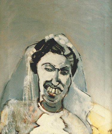 Solitary bride, 1992, oil on canvas, 60 x 50 cm
