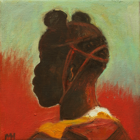 Study Child Soldier, 2014, oil on canvas, 20 x 20 cm