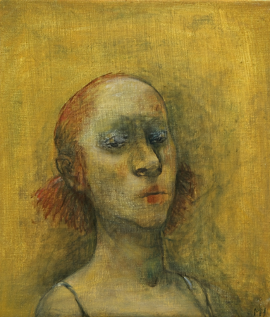 Study of an unknown girl 1, 2010, oil on canvas, 40 x 35 cm