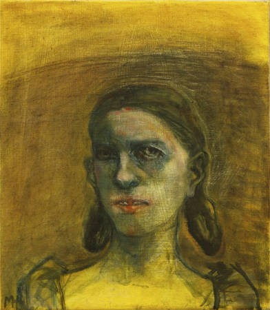 Study of an unknown girl 2, 2010, oil on canvas, 40 x 35 cm