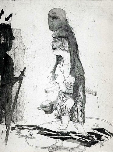 Tale of the handless maiden, 2003, etching/aquatint, 29 x 23 cm, edition 25