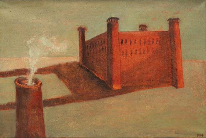 Terre haute, 2013, oil on canvas, 42 x 64 cm