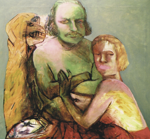 The lovers, 2002, oil on canvas, 85 x 90 cm