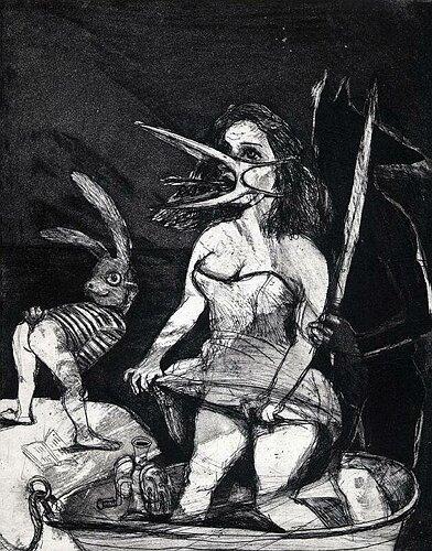 The return, 2004, etching/aquatint, 24.5 x 19.5 cm, edition 30