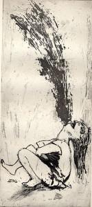 The scream, 2001, etching/aquatint, 30 x 13 cm, edition 25
