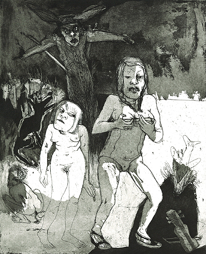 There are no Gods in the garden of Eden 2, 2007, etching/aquatint, 31 x 36 cm, edition 30