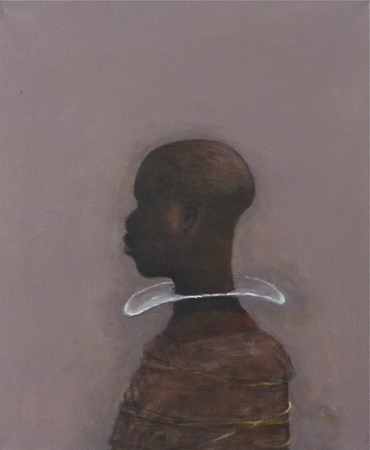 Thin white Line, 2014, oil on canvas, 65 x 55 cm