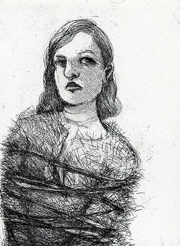 Ties, 2004, etching, 17 x 13 cm, edition 25
