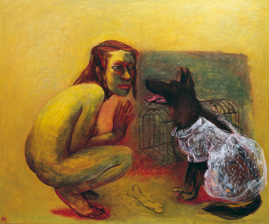 Under my skin 1, 2006, oil on canvas, 100 x 120 cm