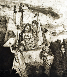 Ways of the world 1 , 2010, etching/aquatint, 45 x 39 cm, edition 30