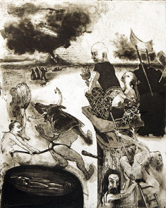 Ways of the world 5 , 2010, etching/aquatint, 50 x 40 cm, edition 30