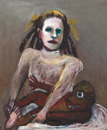 Woman with impeccable manners, 2004, oil on canvas, 85 x 70 cm