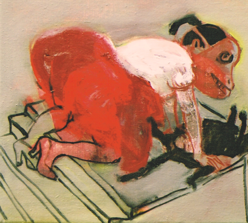 You said you loved me 2, 2003, oil on canvas, 26 x 31 cm