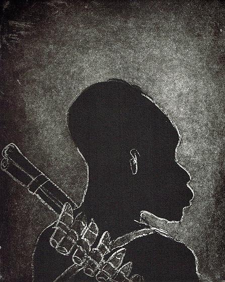 Child soldier 3 , 2013, 30 x 25 cm, etching/aquatint, 2013, ed. 30