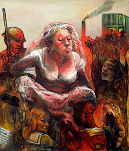 Ritual, 2013, oil on canvas, 112 x 97 cm