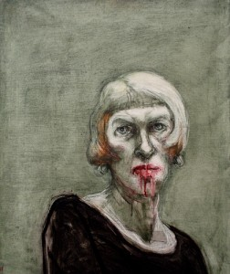 Self portrait, yesterday, 2012, oil on canvas, 60 x 65 cm