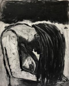 Curtain, 2019, 50 x 40 cm, sugarlift/aquatint, ed. 30