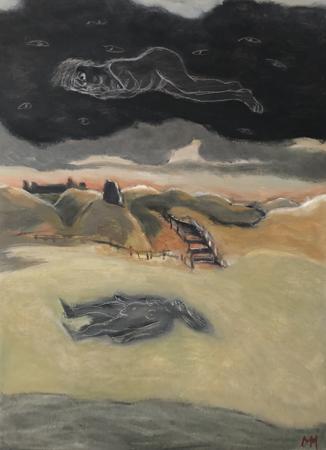 Imprint, 2021, oil on canvas, 55 x 40 cm